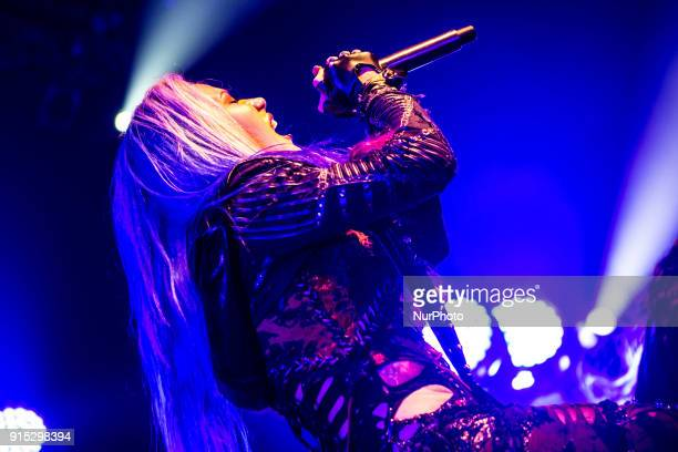 Alissa WhiteGluz ot the Swedish melodic death metal band Arch Enemy performs live at Alcatraz in Milan Italy on 17 January 2018