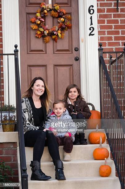 Alissa Zaal left is pictured on her front porch with her two children Reagan Zaal center and Kaylie Zaal 5 The girls enjoy playing on their father's...