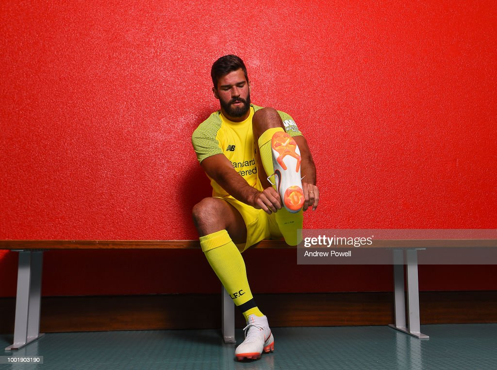 Liverpool Unveil New Signing Alisson : News Photo