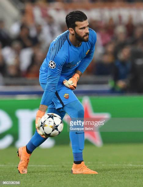 Alisson Becker of AS Roma in action during the UEFA Champions League Semi Final Second Leg match between AS Roma and Liverpool FC at Stadio Olimpico...
