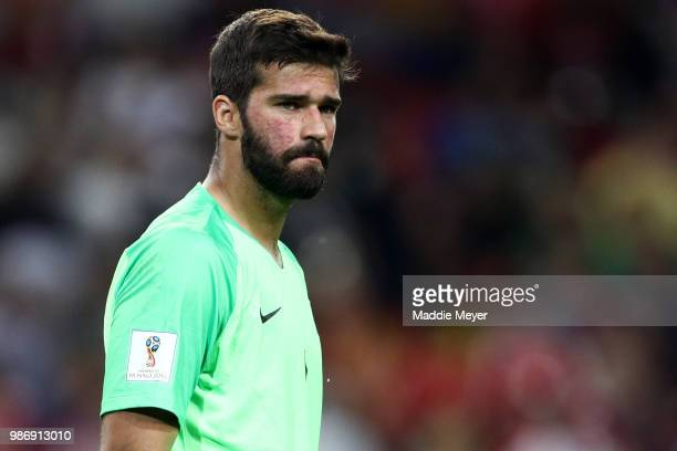 Alisson Becker of Brazil during the 2018 FIFA World Cup Russia group E match between Serbia and Brazil at Spartak Stadium on June 27 2018 in Moscow...
