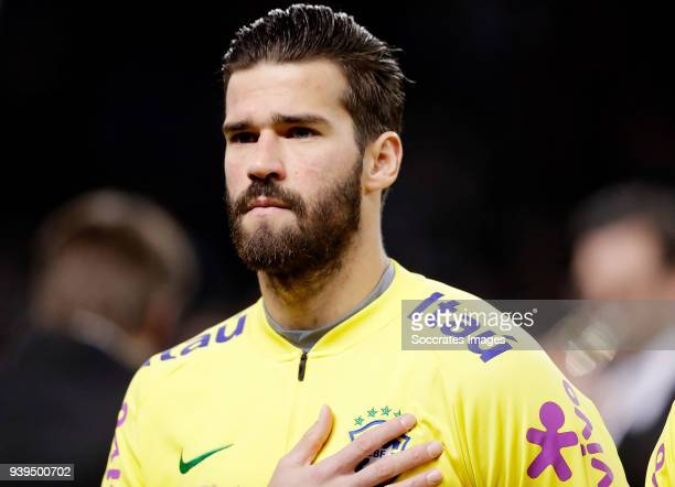 Alisson Becker of Brazil during the International Friendly match between Germany v Brazil at the Olympiastadium on March 27 2018 in Berlin Germany