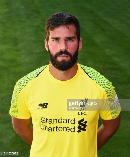 Alisson Becker of Liverpool during a portrait shoot at Melwood Training Ground on August 5 2018 in Liverpool England