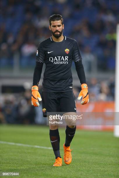 Alisson Becker of Roma at Olimpico Stadium in Rome Italy on May 13 2018 during Serie A match between AS Roma and Juventus