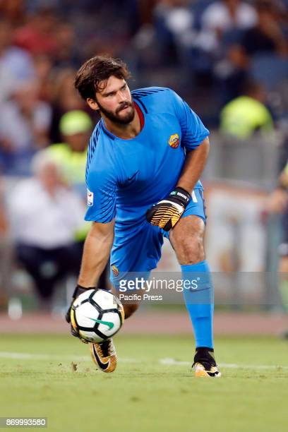 Alisson Becker of Roma during the Italian Serie A soccer match against Inter in Rome Inter defeating Roma 31