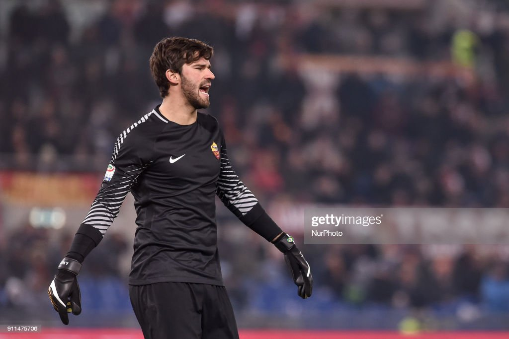 Alisson Becker of Roma during the Serie A match between Roma and Sampdoria at Olympic Stadium, Roma, Italy on 28 January 2018.