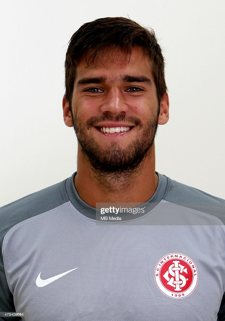 Alisson Becker of Sport Club Internacional poses during a portrait session on August 14, 2014 in Porto Alegre,Brazil.