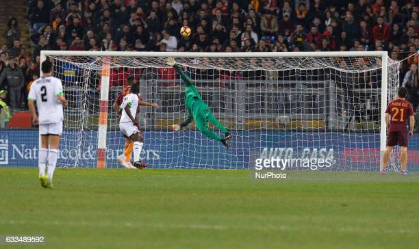 Alisson during the Tim Cup football match AS Roma vs AC Cesena at the Olympic Stadium in Rome on february 01 2017