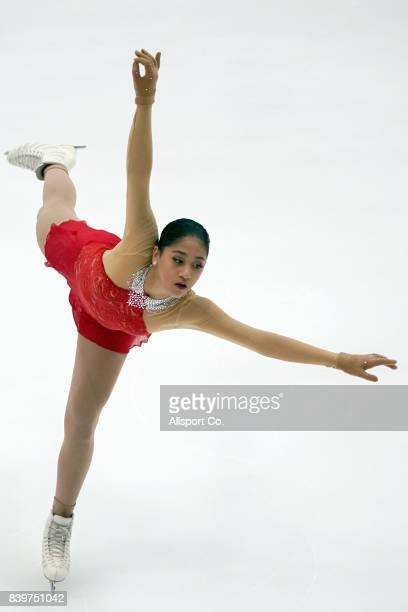 Alisson Krystie Perticheto of the Philippines competes during the Women Individual Figure Skating Final at the Empire City Ice Skating Rinlk as part...