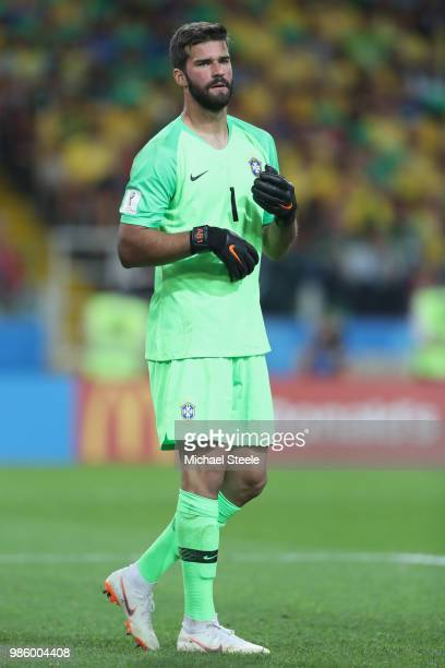 Alisson of Brazil during the 2018 FIFA World Cup Russia group E match between Serbia and Brazil at Spartak Stadium on June 27 2018 in Moscow Russia