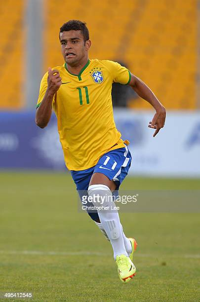 Alisson of Brazil during the Final of the Toulon Tournament between France and Brazil at the Parc des Sports Avignon on June 1 2014 in Avignon France