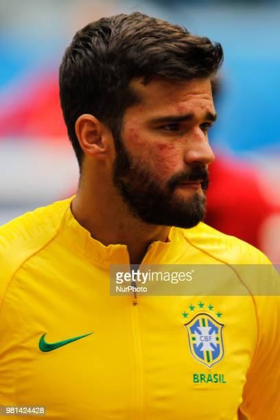 Alisson of Brazil national team during the 2018 FIFA World Cup Russia group E match between Brazil and Costa Rica on June 22 2018 at Saint Petersburg...