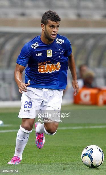 Alisson of Cruzeiro in action during a match between Cruzeiro and Bahia as part of Brasileirao Series A 2014 at Mineirao Stadium on September 11 2014...