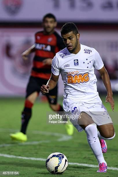 Alisson of Cruzeiro in action during the match between Vitoria and Cruzeiro as part of Brasileirao Series A 2014 at Estadio Manoel Barradas on...