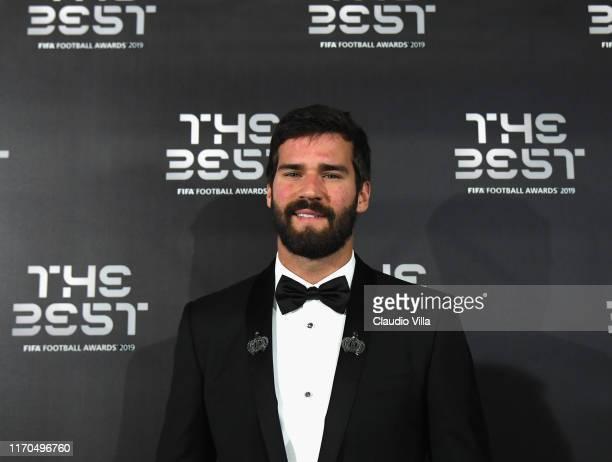 Alisson Ramses Becker attends The Best FIFA Football Awards 2019 on September 23 2019 in Milan Italy