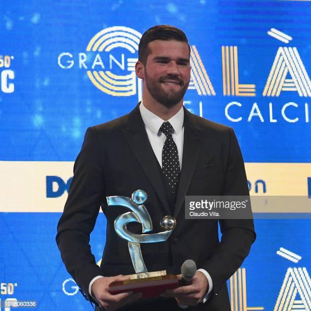 Alisson Ramses Becker attends the Gran Gala Del Calcio 2018 on December 3 2018 in Milan Italy