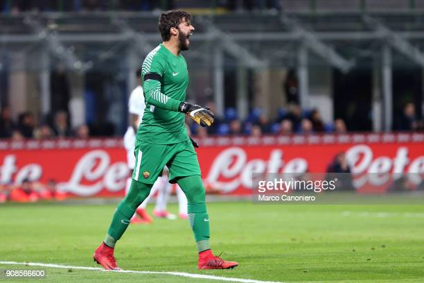 Alisson Ramses Becker of As Roma during the Serie A football match between Fc Internazionale and As Roma The match ended in a 11 tie