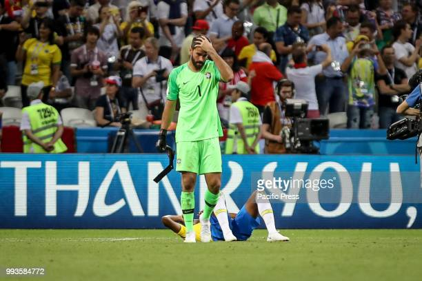 Alisson Ramses Becker of Brasil after the match between Brazil and Belgium valid for the quarterfinals of the 2018 World Cup finals held in Arena...
