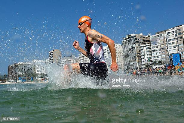 Alistair Brownlee of Great Britain competes during the Men's Triathlon at Fort Copacabana on Day 13 of the 2016 Rio Olympic Games on August 18 2016...