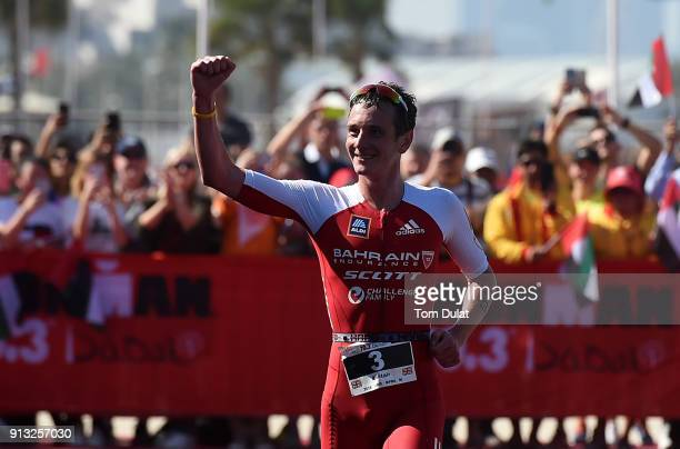 Alistair Brownlee of Great Britain on his way to winning the Ironman 703 Dubai 2018 on February 2 2018 in Dubai United Arab Emirates