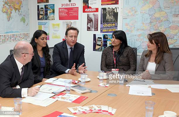 Alistair Burt Aneeta Prem of the Freedom Charity David Cameron Jasvinder Sanghera of Karwia Nirvana and Home Office Women's Minister Lynne...