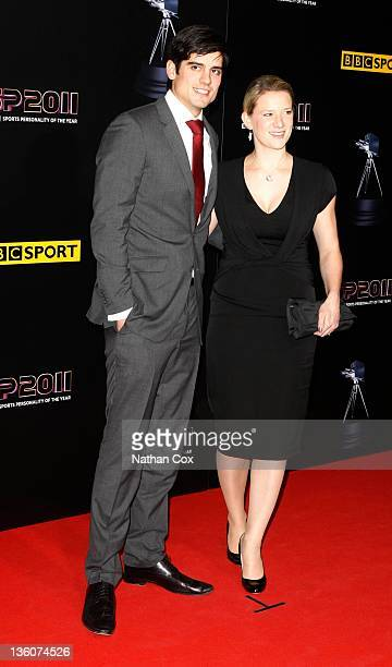 Alistair Cook and his girlfriend Alice Hunt attend the awards ceremony for BBC Sports Personality of the Year 2011 at Media City UK on December 22...