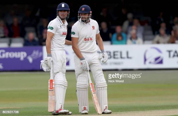 Alistair Cook and Nick Browne partnership yields 200 runs for Essex of Essex during the Essex v Middlesex Specsavers County Championship Division One...