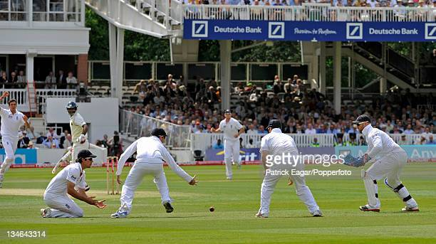 Alistair Cook drops Paranavitana off Steven Finn England v Sri Lanka 2nd Test Lord's June 2011