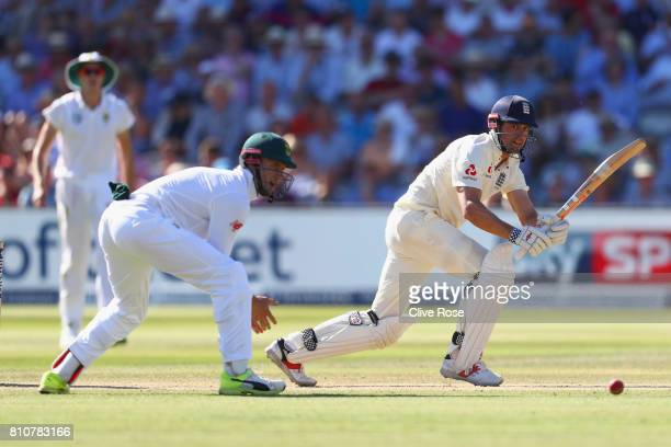 Alistair Cook of England in action on day three of the 1st Investec Test match between England and South Africa at Lord's Cricket Ground on July 8...