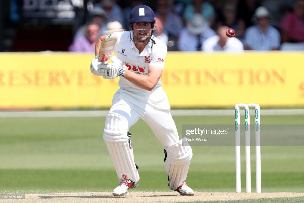 Alistair Cook of Essex shouts for a quick single during the Essex v Warwickshire - Specsavers County Championship: Division One cricket match at the Cloudfm County Ground on JUNE 19, 2017 in Chelmsford, England.