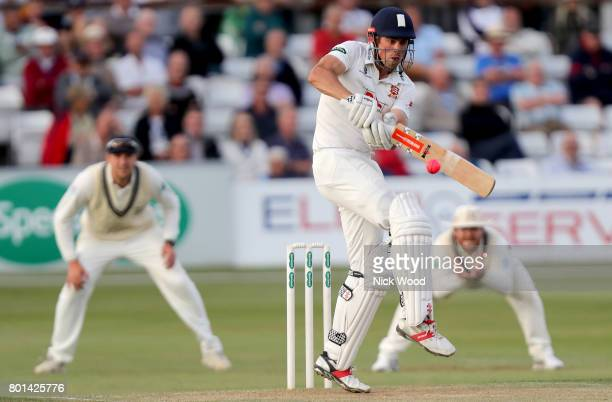 Alistair Cook prepares to hook the ball during the Essex v Middlesex Specsavers County Championship Division One cricket match at the Cloudfm County...