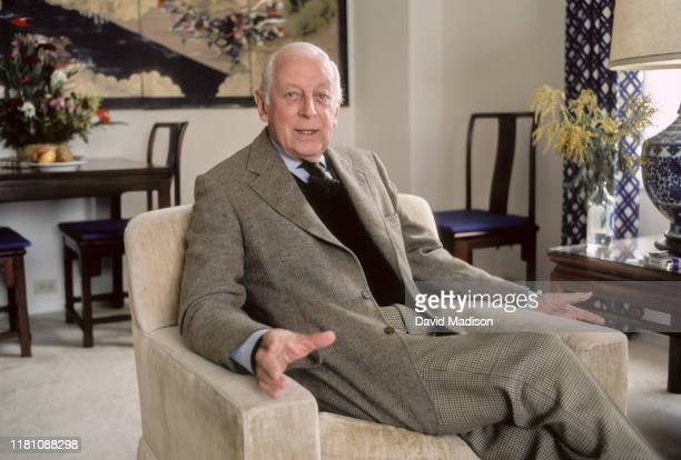 Alistair Cooke poses for a portrait in February 1983 in a hotel in San Francisco California Cooke was the longtime host of PBS Masterpiece Theatre