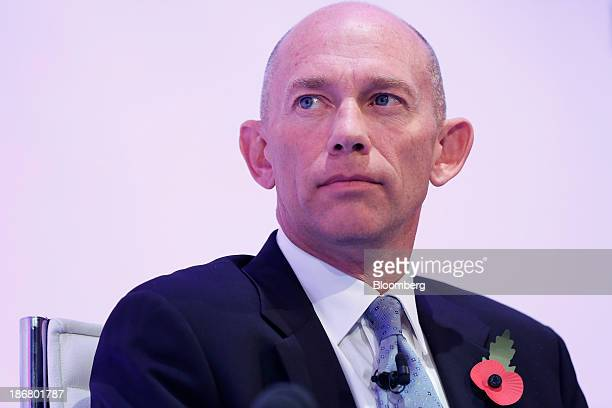 Alistair Cox chief executive officer officer of Hays Plc pauses during the Confederation of British Industry's annual conference in London UK on...