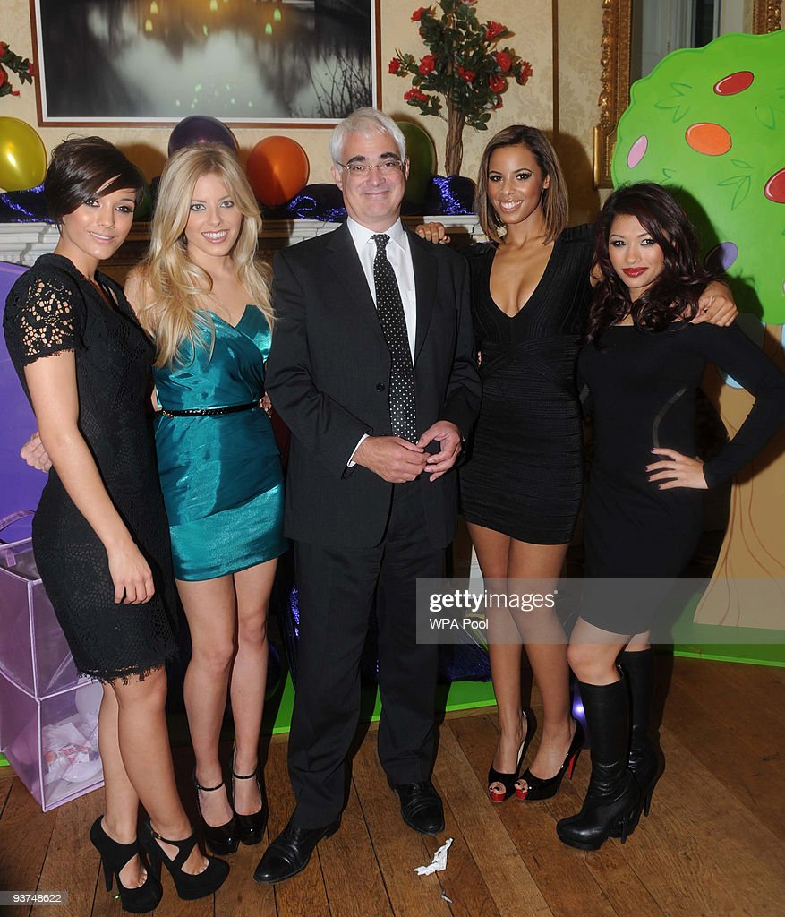London Christmas Party Ideas Part - 34: Alistair Darling, Chancellor Of The Exchequer (C) Poses With Pop Group U0027The
