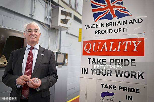 Alistair Darling leader of Better Together and former Chancellor of the Exchequer visits Walker Precision Engineering on April 14 2014 in Glasgow...