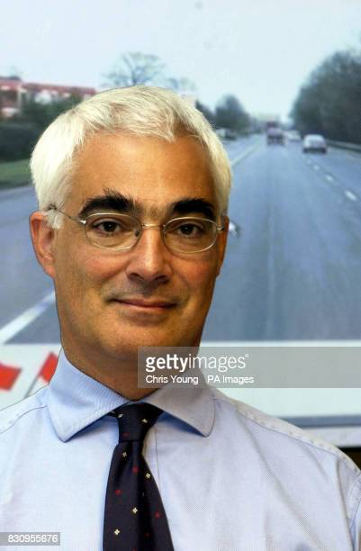 Alistair Darling the Secretary of State for Transport launches the new screen test for learner drivers at the Department of Transport London * The...