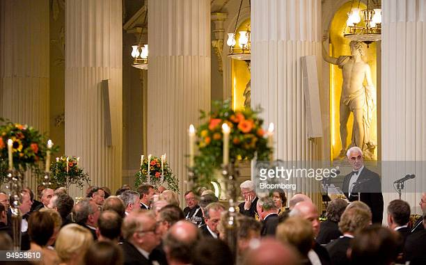 Alistair Darling UK chancellor of the exchequer speaks during the annual Mansion House dinner in London UK on Wednesday June 17 2009 Darling said the...