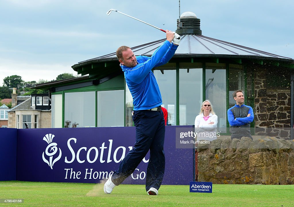 alistair forsyth of mearns castle in action during the second day of the aam scottish open