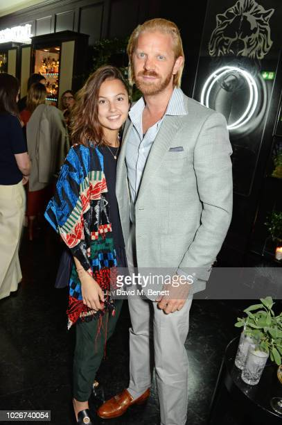 Alistair Guy and Anna Balaint attend the launch of Berkeley Square Gin at Morton's on September 4 2018 in London England
