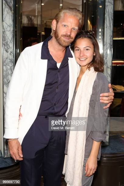Alistair Guy and Anna Balint attends the La Perla x Alistair Guy 'The Ultimate Summer Wardrobe' party at La Perla Burlington Arcade on July 10 2018...