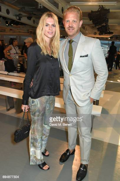 Alistair Guy and Barbora Bediova attend the Christopher Raeburn show during the London Fashion Week Men's June 2017 collections on June 11 2017 in...