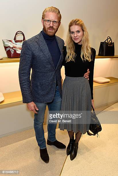 Alistair Guy and Barbora Bediova attend the launch of the unique collaboration between designers John Monique Davidson and artist Tanya Ling at JM...