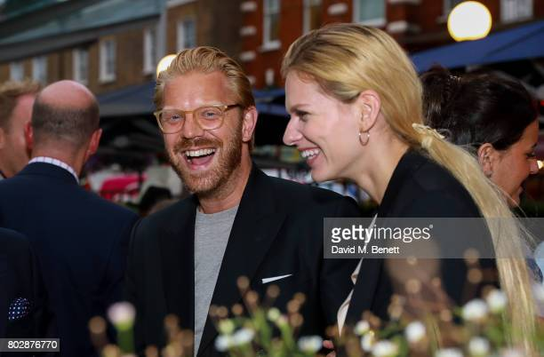 Alistair Guy and Barbora Bediova attends the Taylor Morris Eyewear x Aspall Tennis Classic Player's Party at Bluebird Chelsea on June 28 2017 in...