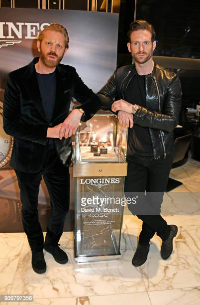 Alistair Guy and Craig McGinlay attends the Longines Aurum Record Collection Launch at Watches of Switzerland Regent Street on March 29 2018 in...