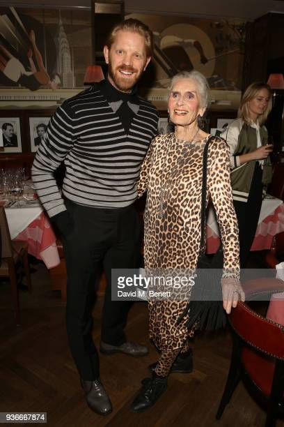 Alistair Guy and Daphne Selfe attend a dinner in celebration of Wim Wenders Blain|Southern exhibition ÔEarly Works 19641984Õ at The Colony Grill Room...