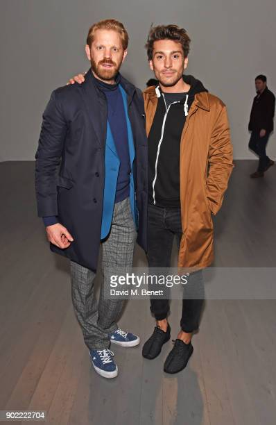 Alistair Guy and Deano Bugatti attend the Christopher Raeburn show during London Fashion Week Men's January 2018 at BFC Show Space on January 7 2018...