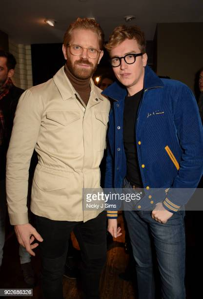 Alistair Guy and Fletcher Cowan attend luxury emporium Liberty London London Fashion Week Mens Event to celebrate the launch of the Belstaff Origins...