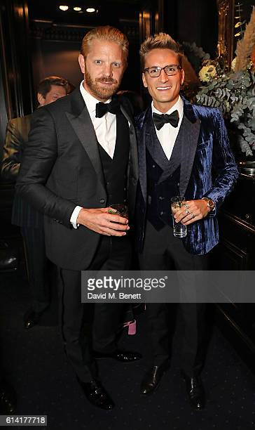 Alistair Guy and Oliver Proudlock attend a private dinner in celebration of the Vestiaire Collective Men at Tramp on October 12 2016 in London England