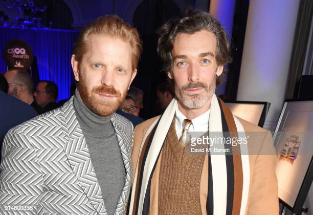 Alistair Guy and Richard Biedul attend the GQ Car Awards 2018 in association with Michelin at Corinthia London on February 5 2018 in London England