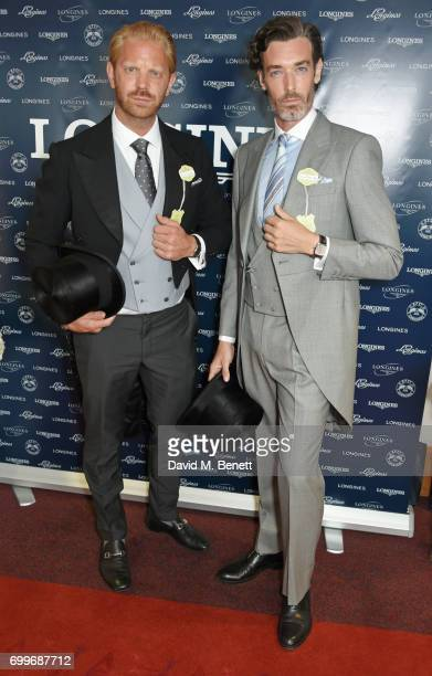 Alistair Guy and Richard Biedul attend the Longines suite in the Royal Enclosure during Royal Ascot on June 22 2017 in Ascot England